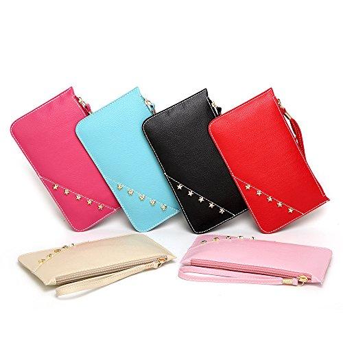 JJLIKER Women Wallet Soft PU Leather Wristlet Portable Bag Card Organizer Phone Holder Ladies Purse Wrist Strap Zipper by JJLIKER-bag (Image #1)