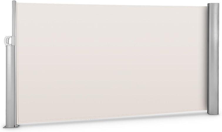 blumfeldt Bari 316 Cortavientos Jardin toldo Lateral terraza Enrollable (Superficie Lona 300x160cm, Mecanismo Muelle desplegable, Incluye Material de Montaje, Sombra Cuadro Aluminio, Tela Beis Crema): Amazon.es: Hogar