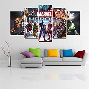 Amazon.com: 5 Panels marvel comics heroes painting modern