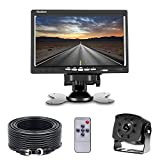 Backup Camera and Monitor Kit, Bus Rear View Back up Camera HD 175 Degree Wide Angle Infrared Waterproof for, Van, RV, Trailer