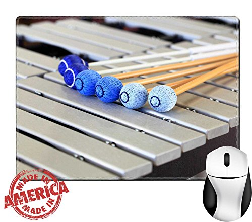 """Price comparison product image Luxlady Natural Rubber Mouse Pad/Mat with Stitched Edges 9.8"""" x 7.9"""" Vibraphone Mallets and Keys IMAGE 21827501"""
