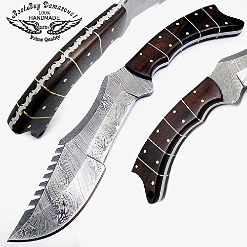 bestbuydamascus1-11-inch-bowie-tracker-fixed-blade-custom-handmade-damascus-steel-hunting-knife-rose