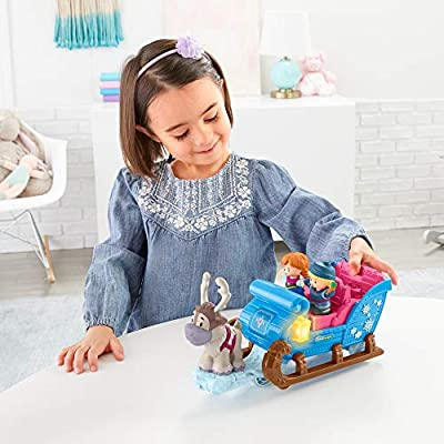 Disney Frozen Kristoff's Sleigh by Little People: Toys & Games