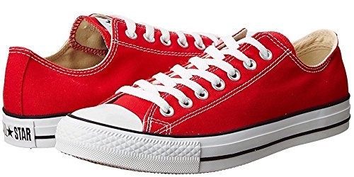 Converse Chuck Taylor All Star Low Top (4.5 Hombres 6.5 Mujeres, Rojo)