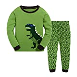 Masonanic Toddler/Kids Boys and Girls Cute Dinosaur Pajama Set 100% Cotton 2-7 Years (4T)