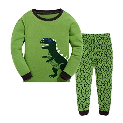 Masonanic Toddler/Kids Boys and Girls Cute Dinosaur Pajama Set 100% Cotton 2-7 Years (7T) by Masonanic