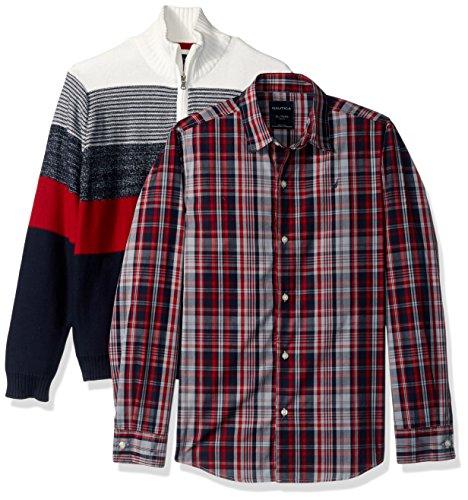 - Nautica Big Boys' Two Piece Sweater Set, Cream, Small (8)