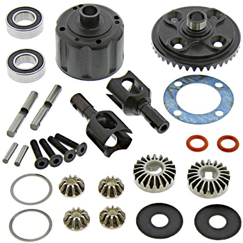 (Tekno RC 1/8 EB48.4 Buggy Differential, 40T Ring Gear & OUTDRIVES Front Rear)