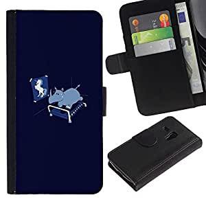 // PHONE CASE GIFT // Moda Estuche Funda de Cuero Billetera Tarjeta de crédito dinero bolsa Cubierta de proteccion Caso Samsung Galaxy S3 MINI 8190 / Funny Unicorn Rhino /