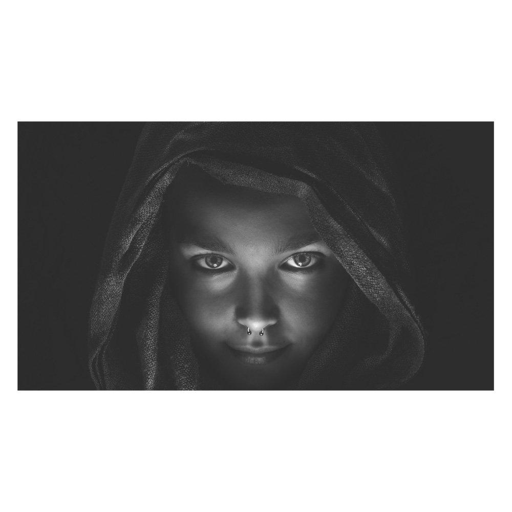 Amazon 特大mu3アクセント壁紙 ウーマン Ph2104 モノクロ 女性 瞳