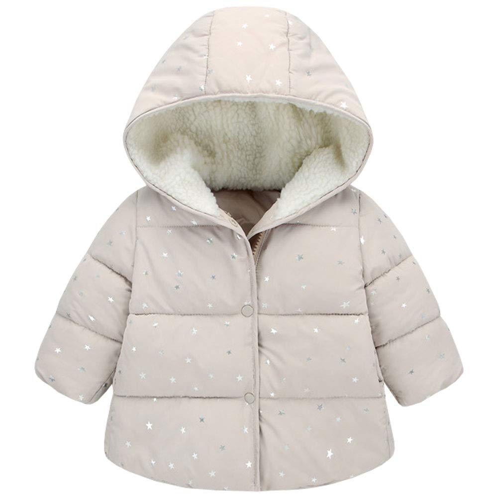 M&A Kids Baby Boys Girls Winter Warm Hooded Coat Children Puffer Jacket