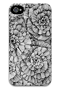 Beauty Design Rose Sketch Back Hard Case Cover for iPhone 4/4s