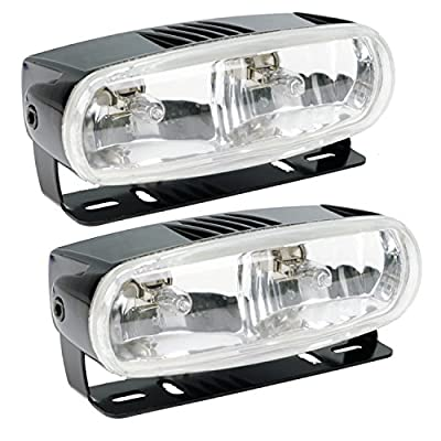 Optilux H71010321 Model 2020 12V Black Dual Beam Halogen Fog/Driving Lamp Kit