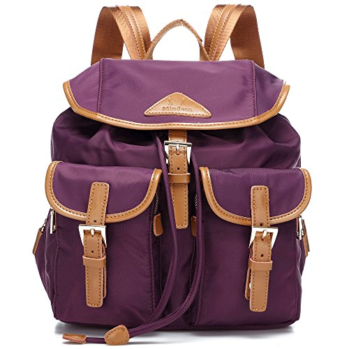 Theft Black Women's Water Resistant Victory Backpacks Nylon Anti Ali 3 Purple tCRSqx