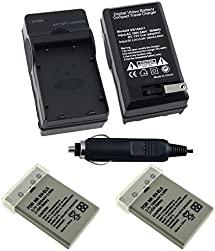 2 Battery+Charger EN-EL5 for Nikon CoolPix P6000 P3 P4 P510