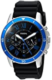 Fossil Men's 'Grant Sport' Quartz Stainless Steel and Silicone Casual Watch, Color:Black (Model: FS5300)