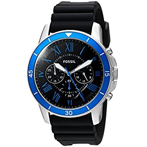 Fossil Analog Black Dial Men's Watch – FS5300