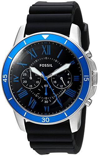 Fossil-Mens-Grant-Sport-Quartz-Stainless-Steel-and-Silicone-Casual-Watch-ColorBlack-Model-FS5300