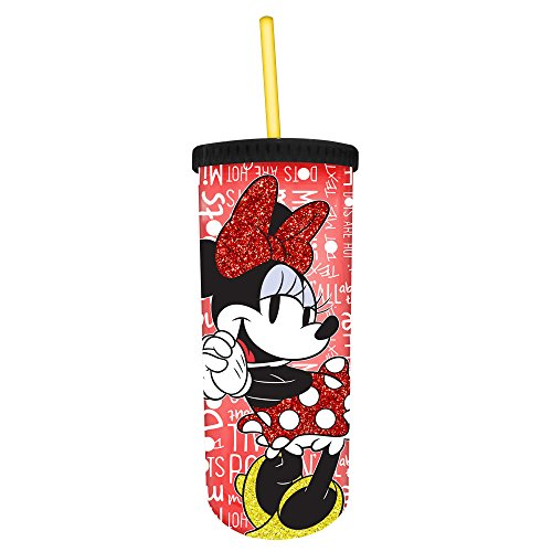 Minnie Glitter Cold Cup with Lid -