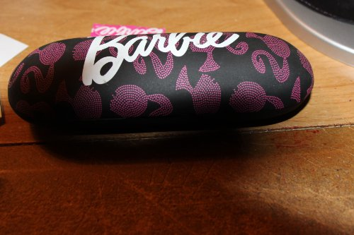 New Barbie Pink Dots Head Logo Eyeglasses Sunglasses Black Pink Hard - Logos Eyeglass