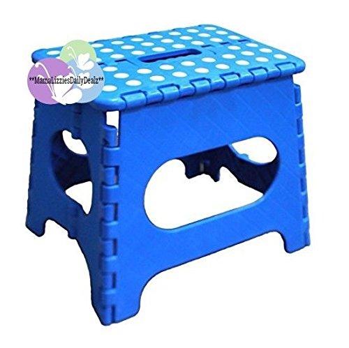 Jeronic 1 11' Folding Step Stool, Blue