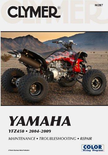 Clymer Yamaha Yfz 450 2004 2009 Clymer Color Wiring Diagrams Morlan Mike Thomas Steven 9781599693651 Amazon Com Books