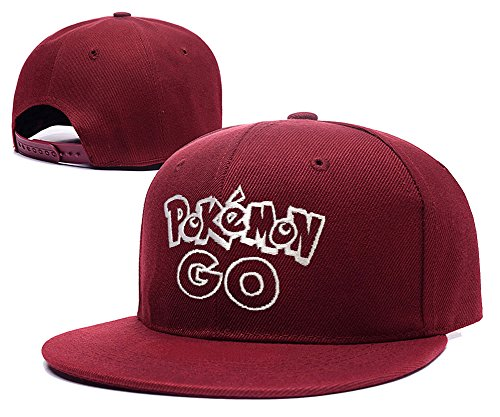 JASOND Pokemon Go Logo Cap Embroidery Adjustable Snapback Hat