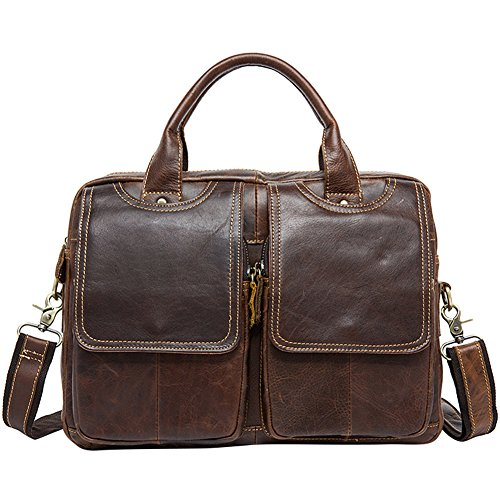 14inch Laptop Messenger Bag,Berchirly Leather Briefcase Fits