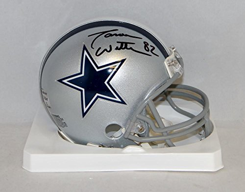 Jason Witten Autographed Black Dallas Cowboys Mini Helmet- JSA Witnessed Auth - Autographed Helmet