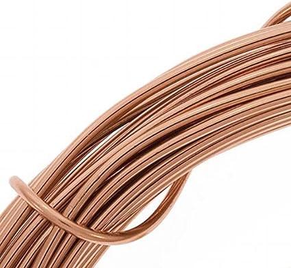 Beadsmith DA2610-COP 12-Gauge Aluminum Craft Wire 39-Feet Light Copper