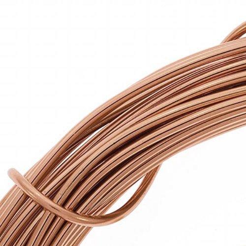 (Beadsmith DA2610-COP 12-Gauge Aluminum Craft Wire, 39-Feet, Light Copper)