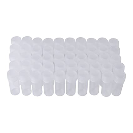 Amazon com: 5ML Plastic Sample Bottles, 50 Pcs Small Clear Bottle