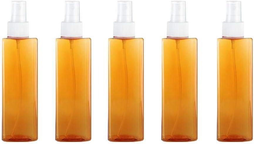 Zihaoo Botella de Spray Vacía de Square Botella de Cristal Niebla Viaje para Perfume/Aceite Esencial/Cosmético-Naranja(250ml)