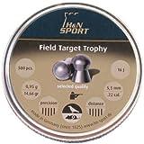H&N Field Target Trophy Domed Airgun Pellets, .22 Cal, 14.66 Grains (500 Count)