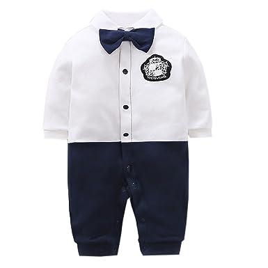68b8ad24d423b エルフ ベビー(Fairy Baby)ベビーフォーマルロンパース 洋服 男の子 結婚式服 59cm ホワイト