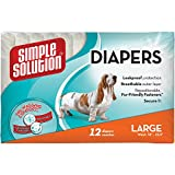 Simple Solution Disposable Diapers for Dogs, Large, Pack of 12