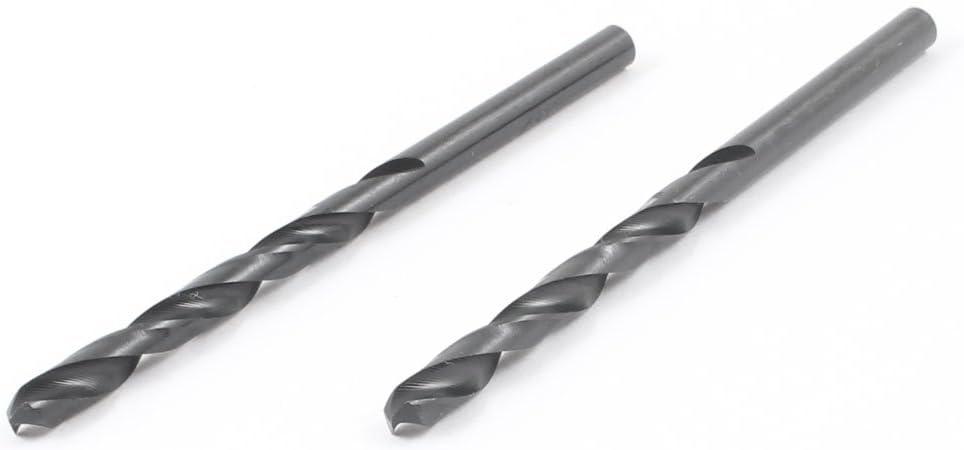uxcell 4.4mm Dia Split Point 80mm Long High Speed Twist Drill Bit Black 2 Pcs