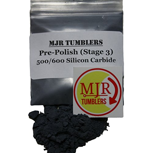 MJR Tumblers 3 lb Silicon Carbide 500/600 Rock Grit by MJR Tumblers