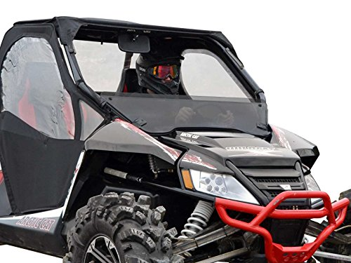 SuperATV Dark Tinted Half WIndshield Arctic Cat Wildcat 1000/1000 4 (SEE FITMENT) - 250 Times Stronger Than Glass! (Wildcats Glass)