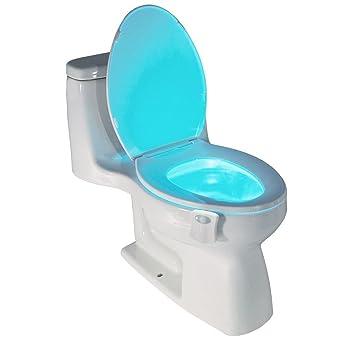flintronic Lampe de Toilette LED Veilleuse Capteur Détecteur, 8 ...