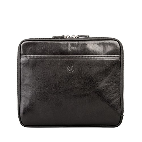 Maxwell Scott Luxury Black Leather iPad Sleeve (The Luzzi) - One Size by Maxwell Scott Bags (Image #6)