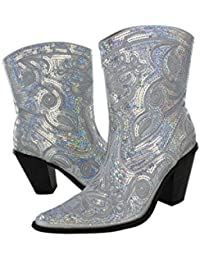 Amazon.com: Silver - Boots / Shoes: Clothing, Shoes & Jewelry