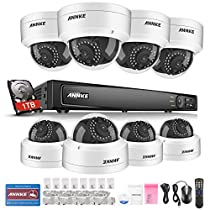 ANNKE 8CH 6.0MP IP Camera Security System with 2 Megapixels Super HD 1080P 8 Dome IP Cameras, Power over Ethernet, 1TB HDD Included