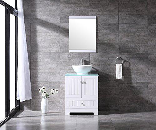 Sliverylake 24 bathroom vanity ceramic vessel sink combo - Bathroom vanity and mirror combo ...