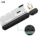 BOONA Memory Foam Keyboard Wrist Rest – Set Includes Ergonomic Keyboard Pad and Mouse Pad Wrist Support;Effective Protection for RSI&Carpal Tunnel–Comfortable Design Suitable for Office, Games(Black)