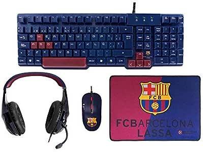 Mars Gaming BLBC3- Pack Teclado,ratón,auriculares y alfombrilla del FC Barcelona: Amazon.es: Informática