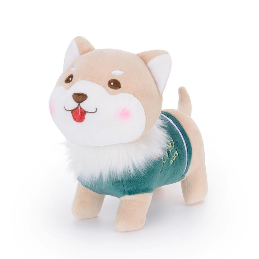 Showking Cute Puppy Plush - Puppy Stuffed Lovely Animal Dolls - Baby Kids Toys Collection -Measures 7.9inches tall - Easter Gift (Light Green) by Showking