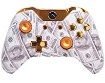 """Gold Money"" Xbox One Custom UN-MODDED Controller Exclusive Design"