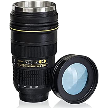 Great Lens Cup With Stainless Steel Insulated Tumbler, 1:1 Camera 24 70mm F2 Design Inspirations