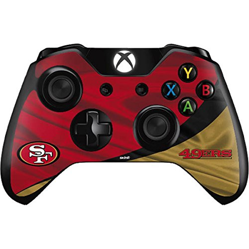 Skinit San Francisco 49ers Xbox One Controller Skin - Officially Licensed NFL Gaming Decal - Ultra Thin, Lightweight Vinyl Decal -